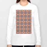 navajo Long Sleeve T-shirts featuring Navajo Pattern by Shea Sjoberg