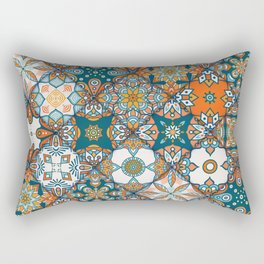 Vintage decorative elements pattern Rectangular Pillow