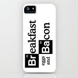 Breaking Bad Logo - Breakfast, eggs,bacon- Heisenberg - TV iPhone Case