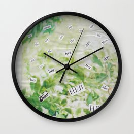 she/her/hers Wall Clock