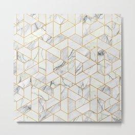Marble hexagonal pattern Metal Print