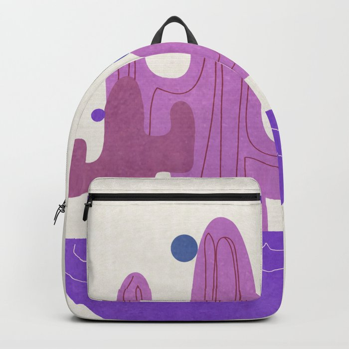 Purple Cactus Backpack