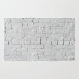 White Brick Wall (Black and White) Rug