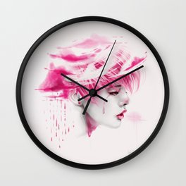 Head Up In The Clouds (pink ver.) Wall Clock