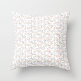 Vintage Bike Pattern Throw Pillow