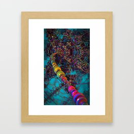 Connecting to the Psychedelic Brain II Framed Art Print