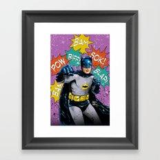 SAME BAT-TIME Framed Art Print