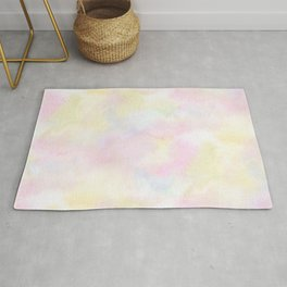 Spring Abstract pastel watercolor Rug