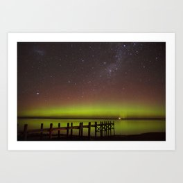 Aurora Boreal Lakeside Art Print