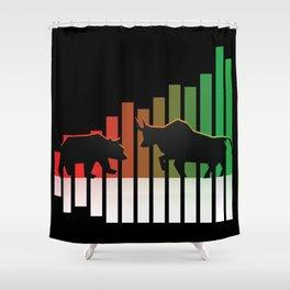 Bear VS Bull Stock Exchange Money Profit Shareholder Share Gift Shower Curtain