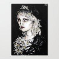 sky ferreira Canvas Prints featuring Sky ferreira no………………………..11 by Lucas David