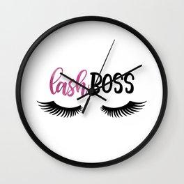 Lash Boss Wall Clock