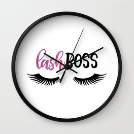 Lash Boss Wall Clock