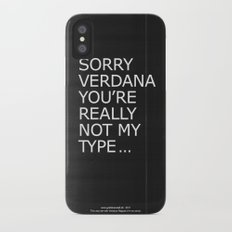 Sorry Verdana you're really not my type iPhone X Slim Case