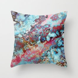 Colorful abstract marble II Throw Pillow