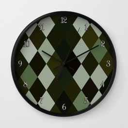 Pink Roses in Anzures 5  Harlequin 1 Wall Clock
