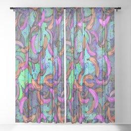 Abstract Banana Song Sheer Curtain