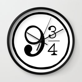 Platform 9 3/4 Nine And Three Quarters Wall Clock