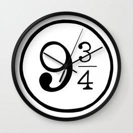 Platform 9 3/4 Nine And Three Quarters Wall Clock