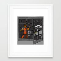 anxiety Framed Art Prints featuring Anxiety by T.L. Jackson