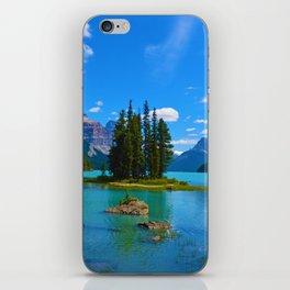 Spirit Island on Maligne Lake in Jasper National Park, Canada iPhone Skin