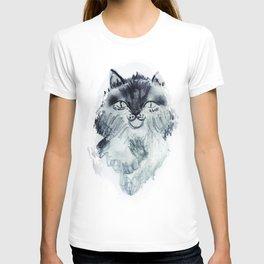minnoş kedi T-shirt