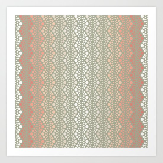 Retro Dotted Pattern 06 Art Print