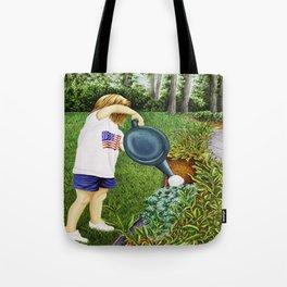 Child Watering Garden Tote Bag