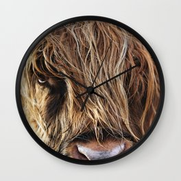Highland Cow Print II Wall Clock