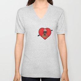 Don't Run Over My Heart Unisex V-Neck