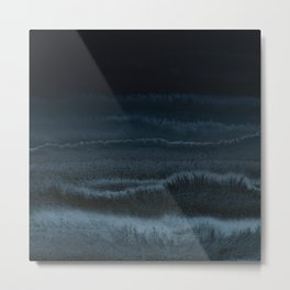 WITHIN THE TIDES NIGHT BEACH by Monika Strigel Metal Print