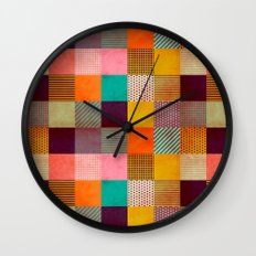 Decorated Pixel   Wall Clock