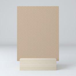 Pantone Hazelnut Double Scallop Wave Pattern Mini Art Print