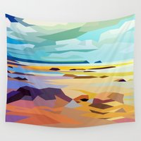 rocky Wall Tapestries featuring Rocky Beach by Liam Brazier