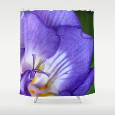 single purple flower Shower Curtain