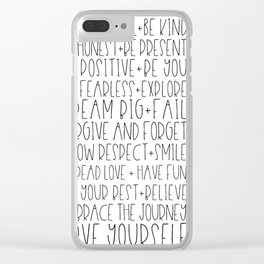 Family Reminders + Values Clear iPhone Case