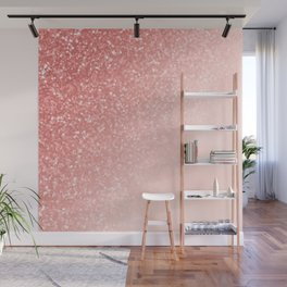 She Sparkles Deep Rose Gold Pastel Pink Luxe Geometric Wall Mural