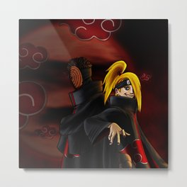 tobi  and deidara Metal Print