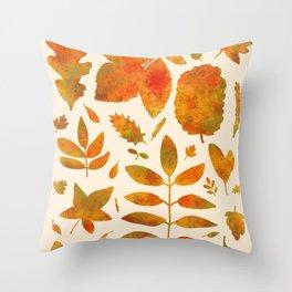 Autumn Leaves Fall Throw Pillow