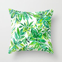 GREEN CANOPY Throw Pillow