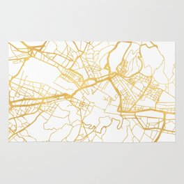 FLORENCE ITALY CITY STREET MAP ART Rug