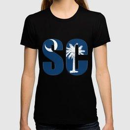 South Carolina SC State Flag Letter product T-shirt