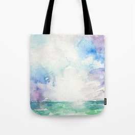 Colored Sky Watercolor Painting Tote Bag
