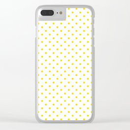 Dots (Gold/White) Clear iPhone Case