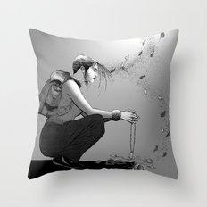 B&W No.9 Throw Pillow