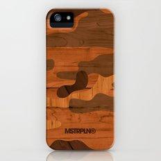 Modern Woodgrain Camouflage / Woodland Print Slim Case iPhone SE