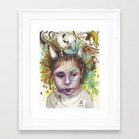 creativity Framed Art Prints featuring Creativity by busymockingbird