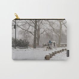Snow Day Carriage Ride Through Central Park Carry-All Pouch
