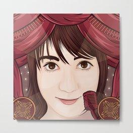 Oku Manami (AKB48) Metal Print