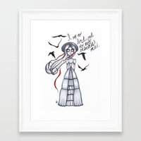 jane eyre Framed Art Prints featuring Jane Eyre by Natalie Easton
